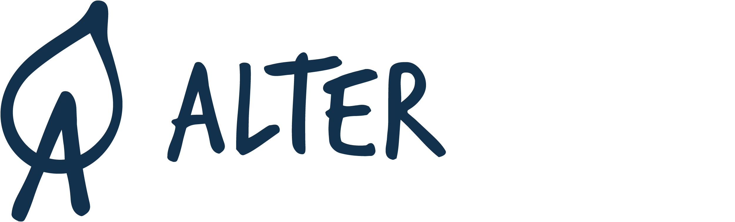 AlterNatur | Logo Menu Négatif